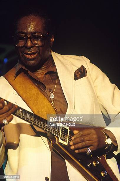 Guitar player and singer Albert King at the Jazz Festival in Montreux Switzerland in July 1989