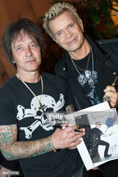 Guitar Player Billy Morrison and Singer Billy Idol attend the UCLA Operation Mend 10 Year Anniversary at the Home of Founder Ron Katz Sponsored by...
