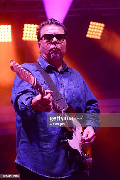 Guitar player Cesar Rosas of Los Lobos performs onstage during 2015 KAABOO Del Mar at the Del Mar Fairgrounds on September 18 2015 in Del Mar...