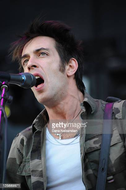 Guitar player Dan Boeckner of Wolf Parade performs at the Sasquatch Festival at The Gorge on May 28 2011 in George Washington