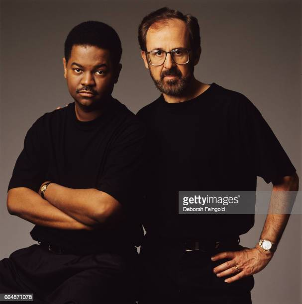 Guitar player Earl Klugh and pianist Bob James pose for a portrait in 1992 in New York City New York