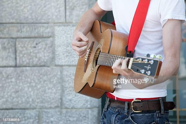 Guitar player sulla parte anteriore