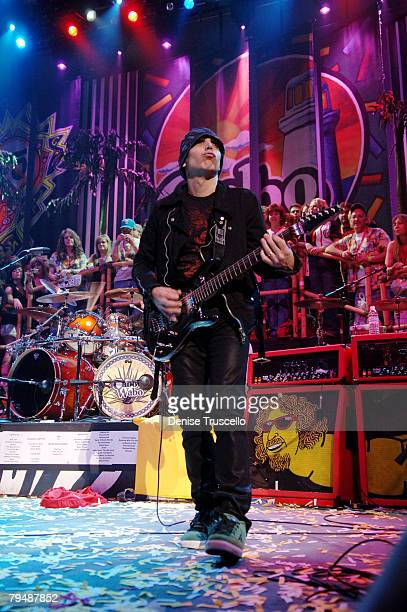 Guitar player Joe Satriani performs at The Pearl in The Palms Casino Resort on February 02 2008 in Las Vegas Nevada