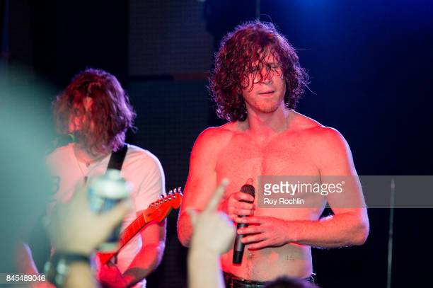 Guitar Player Mark Vollelunga and vocalist Jonny Hawkins of Nothing More perform live on SiriusXM's Octane Channel at The Knitting Factory on...