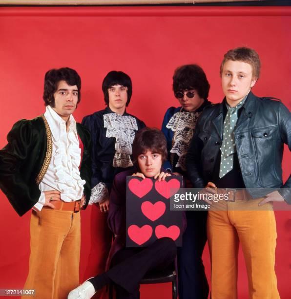 Guitar player Rex Brayley, keyboardist Lynton Guest, bassist Mick Jackson, drummer Maurice Bacon and singer Steve Ellis, all of the British pop group...