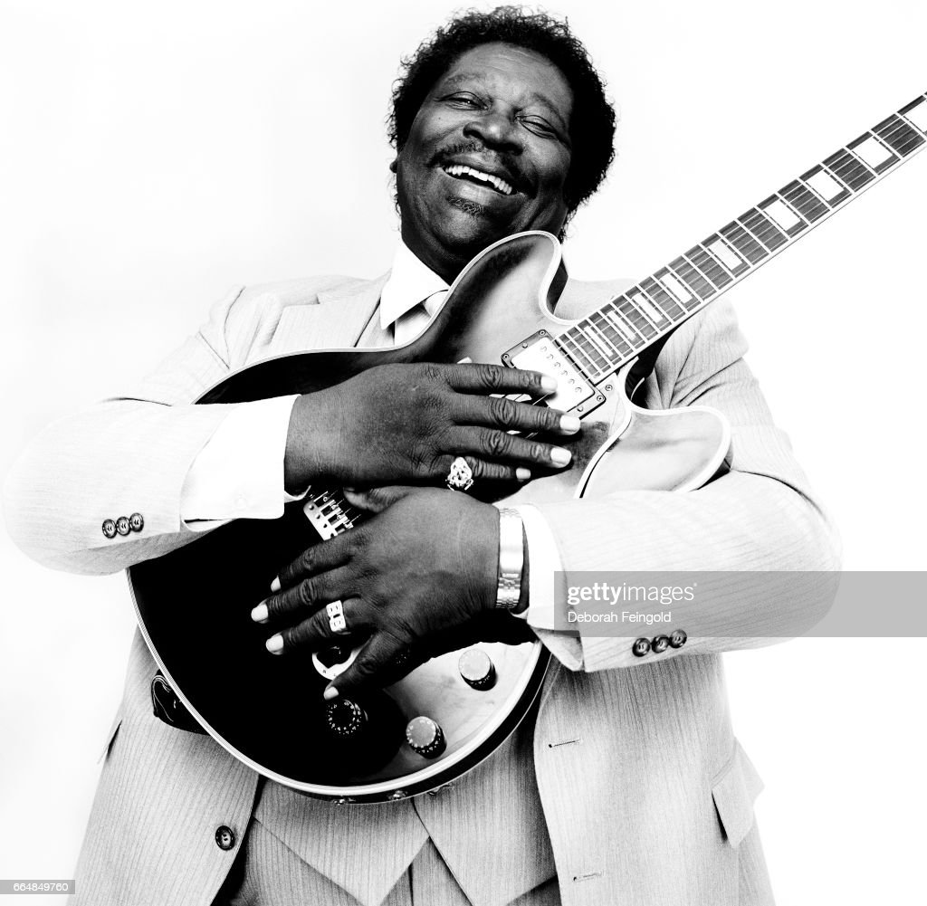 Guitar player, singer, songwriter B B KING poses with his guitar for a portrait in May 1985 in New York City, New York.