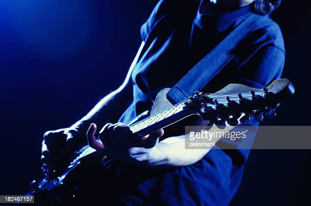 Guitar Player with Selective Focus