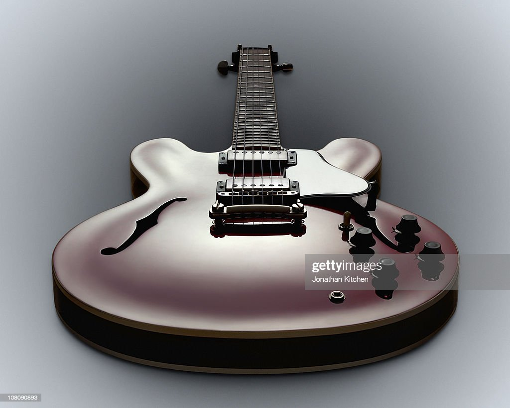 A Guitar showing all its controls : Stock Photo