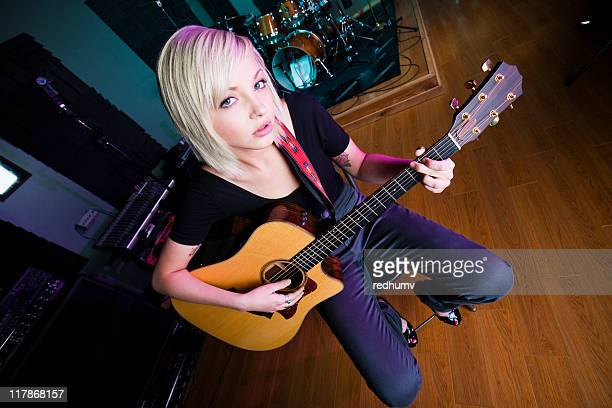guitar soloist - blonde female country singers stock photos and pictures