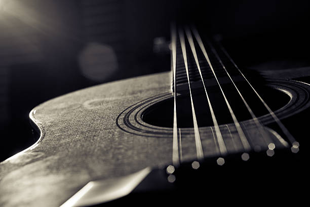 Free Black And White Guitar Images Pictures Royalty