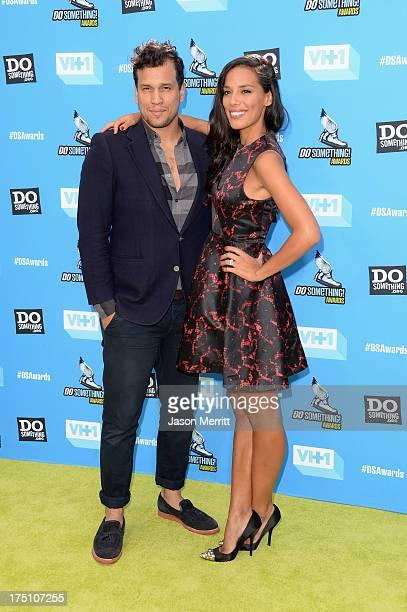 Guitarist Abner Ramirez and singer Amanda Sudano of Johnnyswim arrive at the DoSomethingorg and VH1's 2013 Do Something Awards at Avalon on July 31...