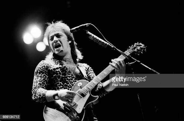 Guitarist Aldo Nova performs at Market Square Arena in Indianapolis Indiana on July 9 1982