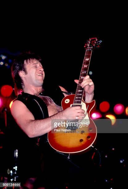 Guitarist Aldo Nova performs at the Aragon Ballroom in Chicago Ilinois November 25 1983