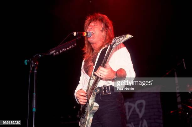 Guitarist Aldo Nova performs at the Vic Theater in Chicago Illinois June 7 1991