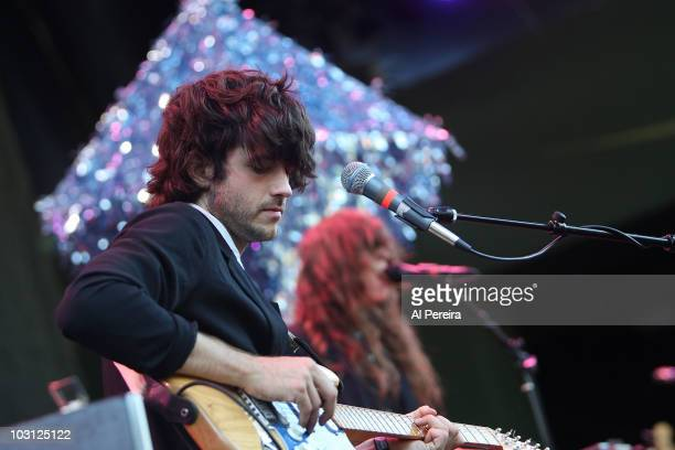 Guitarist Alex Scaly and his band Beach House open when The National perform a Benefit Concert for Celebrate Brooklyn during the 32nd season of...