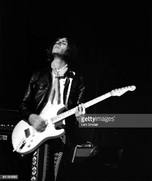 Guitarist and bassist for the Stooges Ron Asheton performs live at the Grande Ballroom in 1968 in Detroit Michigan