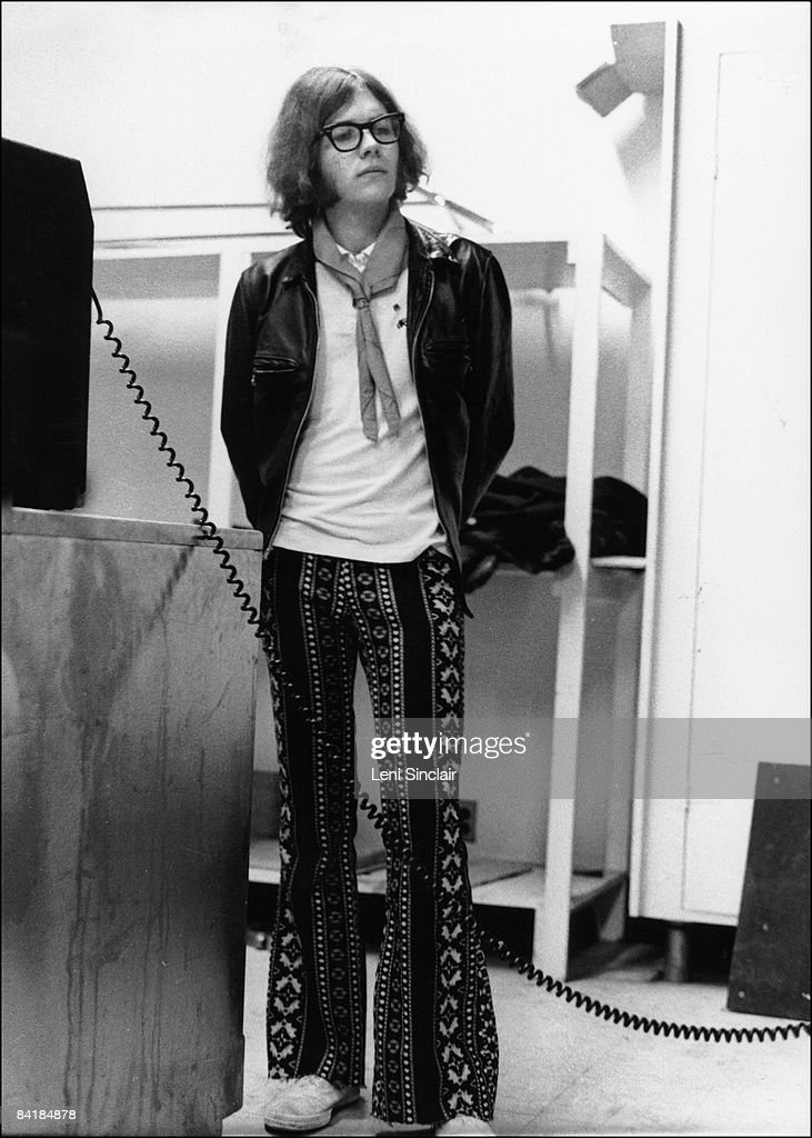 Guitarist and bassist for the Stooges, Ron Asheton waits backstage at the Birmingham Palladium in 1969 in Birmingham Michigan.