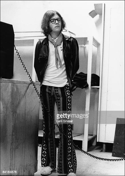 Guitarist and bassist for the Stooges Ron Asheton waits backstage at the Birmingham Palladium in 1969 in Birmingham Michigan