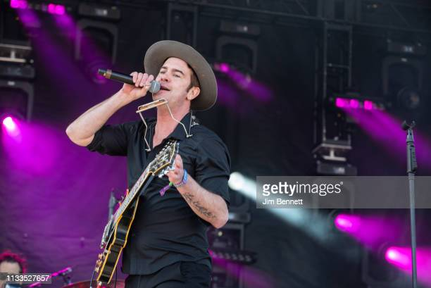 Guitarist and singer Garrett Dutton of G Love Special Sauce performs live on stage during Innings Festival at Tempe Beach Park on March 03 2019 in...