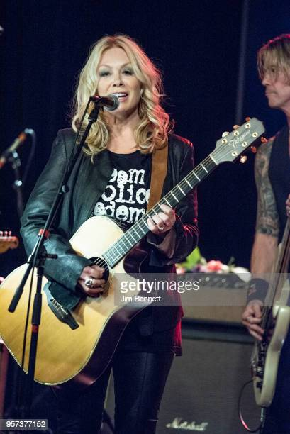 Guitarist and singer Nancy Wilson and bassist Duff McKagan perform live on stage during the MusiCares Concert for Recovery benefit at The Showbox on...