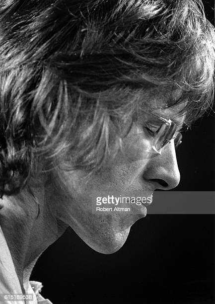 Guitarist and singer Paul Kantner of the Jefferson Airplane performs onstage at The Family Dog At The Great Highway on June 13 1969 in San Francisco...