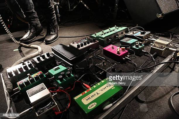 Guitarist and Singer Richard Myklebust of Norwegian band The Megaphonic Thrift opens for Stephen Malkmus and The Jicks during a concert at...