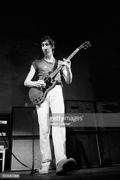 Guitarist and songwriter Pete Townshend of British rock group The Who performs at the Fillmore West San Francisco August 1968