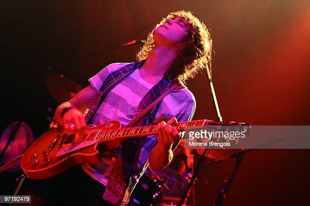 Guitarist and Vocalist Andrew VanWyngarden of MGMT performs at Rolling Stone club on July 07 2008 in Milan Italy
