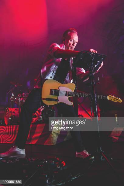 Guitarist and vocalist Gary Kemp of progressive rock group Nick Masons Saucerful Of Secrets performing live on stage at The Roundhouse in London on...