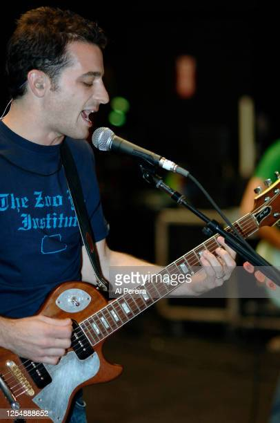 Guitarist and vocalist Marc Roberge and the band O.A.R. Soundcheck before their performance at the Nokia Theater in Times Square on October 3, 2005...