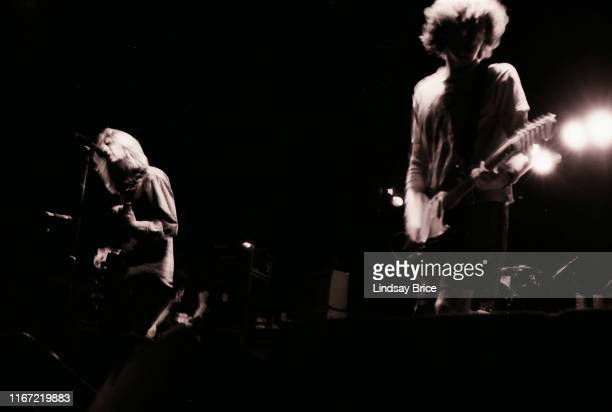 Guitarist and vocalist Mark Arm and guitarist Steve Turner perform with bassist Matt Lukin and drummer Dan Peters in Mudhoney on September 26 1992 at...