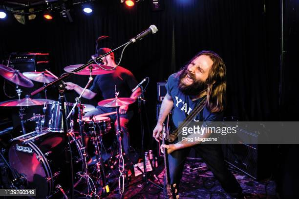 Guitarist and vocalist Matt Page and drummer Joey Waters of American rock group Dream The Electric Sleep performing live on stage at The Black Heart...