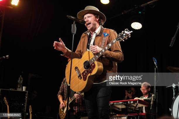 Guitarist and vocalist Michael Hobby of American country rock group A Thousand Horses performing live on stage at 229 in London, on November 19, 2019.