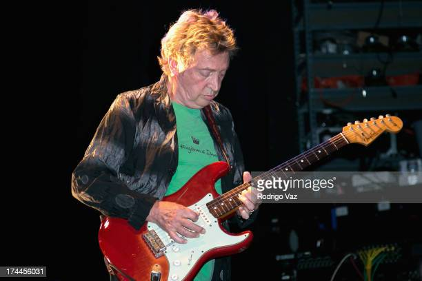 Guitarist Andy Summers of Circa Zero performs at Circa Zero's first live performance at the El Rey Theatre on July 25 2013 in Los Angeles California
