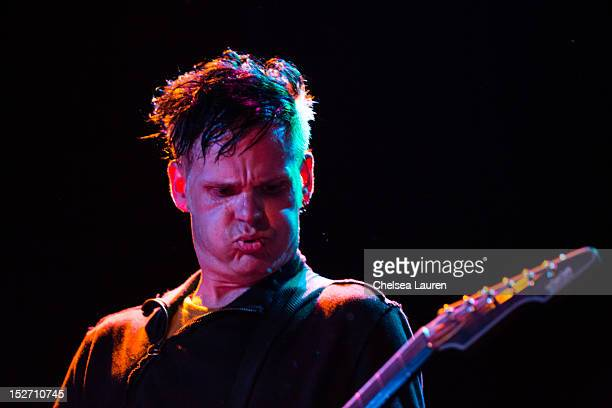 Guitarist Ashburn Miller of Orgy performs at The Roxy Theatre on September 23 2012 in West Hollywood California