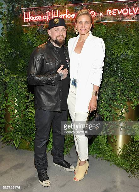 Guitarist Benji Madden and actress Cameron Diaz attend House of Harlow 1960 x REVOLVE on June 2 2016 in Los Angeles California