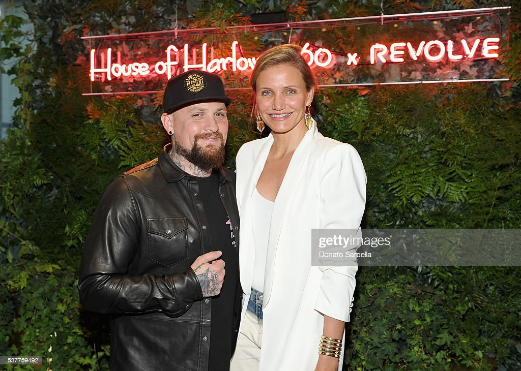 Guitarist Benji Madden and actress Cameron Diaz attend House of Harlow 1960 x REVOLVE on June 2, 2016 in Los Angeles, California.
