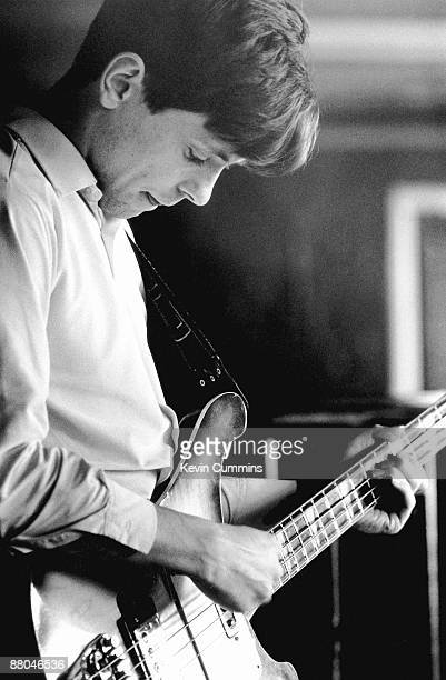Guitarist Bernard Sumner of rock group Joy Division at TJ Davidson's rehearsal room Little Peter Street Manchester 19th August 1979