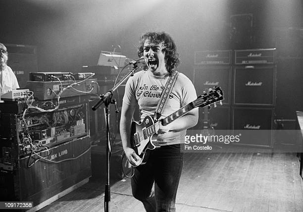 guitarist Bernie Marsden from Whitesnake performs live on stage at the Rainbow Theatre in Finsbury Park London in March 1981