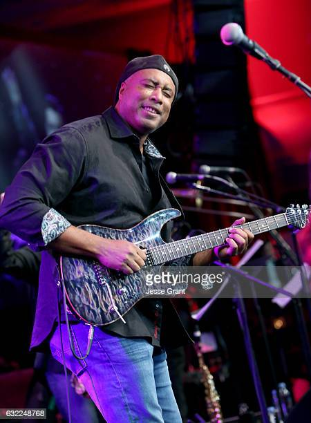 Guitarist Bernie Williams performs onstage during the 2017 NAMM Show at the Anaheim Convention Center on January 20 2017 in Anaheim California