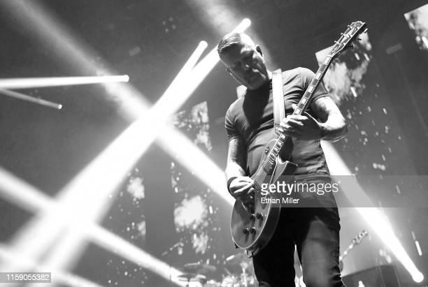 Guitarist Bill Kelliher of Mastodon performs at The Joint inside the Hard Rock Hotel Casino on June 28 2019 in Las Vegas Nevada