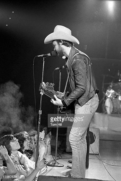 Billy Gibbons of ZZ Top during ZZ Top in Concert at the Macon Coliseum April 10 1974 at Macon Coliseum in Macon Georgia United States