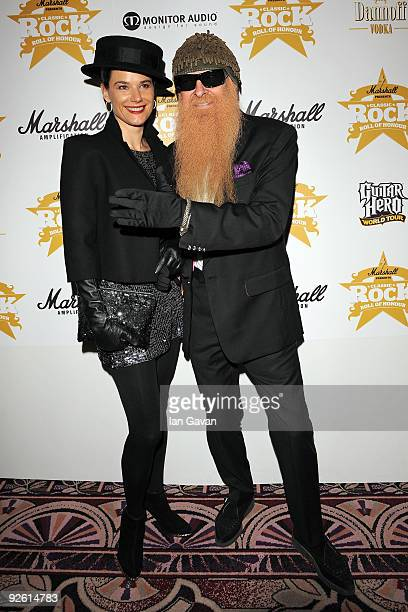 Guitarist Billy Gibbons with his wife Gilligan attend the Classic Rock Roll Of Honour Awards at the Park Lane Hotel on November 2 2009 in London...