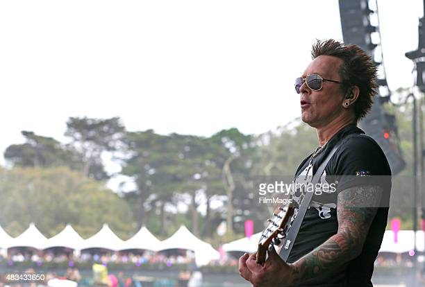 Guitarist Billy Morrison performs at the Lands End Stage during day 2 of the 2015 Outside Lands Music And Arts Festival at Golden Gate Park on August...