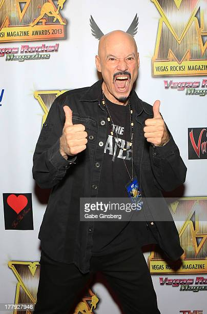 Guitarist Bob Kulick arrives at the 2013 Vegas Rocks magazine music awards at The Joint inside the Hard Rock Hotel Casino on August 25 2013 in Las...