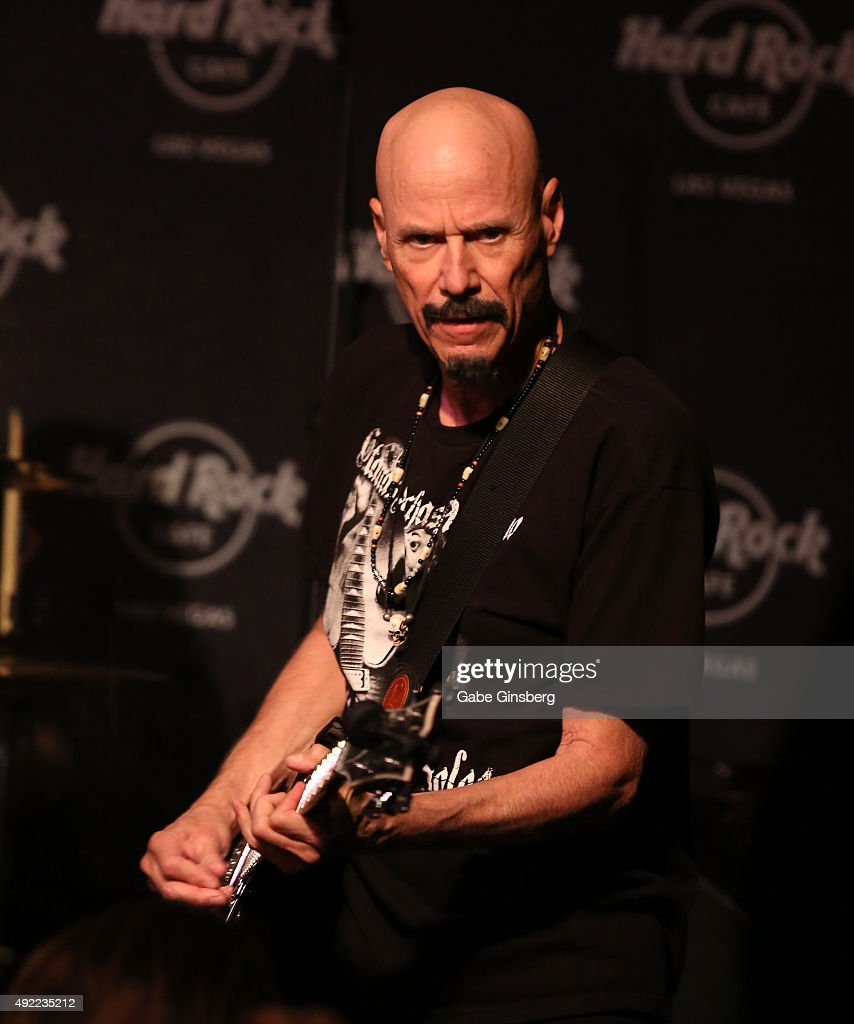 Guitarist Bob Kulick performs during Hard Rock Cafe Las Vegas at Hard Rock Hotel's 25th anniversary celebration on October 10, 2015 in Las Vegas, Nevada.