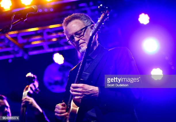 Guitarist Bob Mann performs onstage with Steve Tyrell at The Canyon Club on January 12 2018 in Agoura Hills California