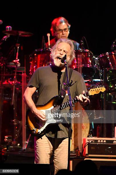 Guitarist Bob Weir and drummer Mickey Hart of Dead and Company perform during the 'Pay it Forward' concert at The Fillmore on May 23 2016 in San...