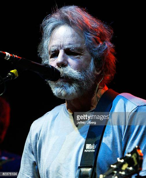Guitarist Bob Wier of Bob Weir RatDog performs at the PNC Bank Arts Center on August 15 2008 in Holmdel New Jersey