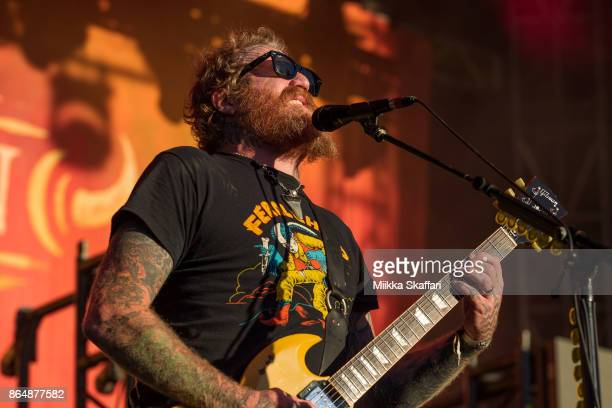 Guitarist Brent Hinds of Mastodon performs at Monster Energy Aftershock Festival 2017 at Discovery Park on October 21 2017 in Sacramento California
